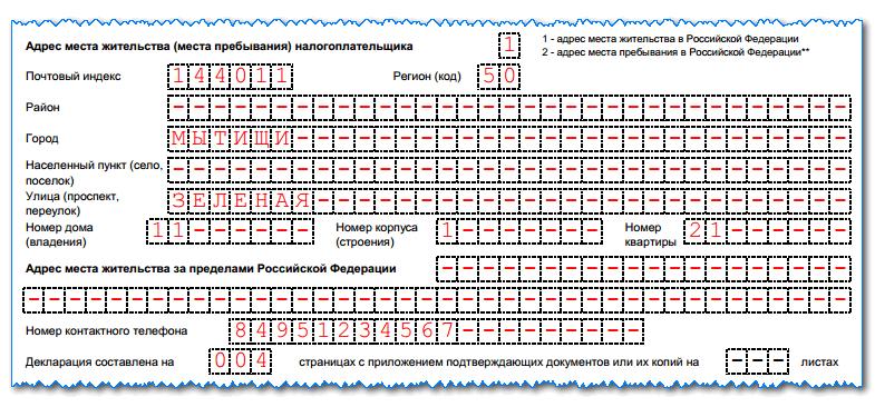 Декларация 3-НДФЛ: образец заполнения для ИП на ОСНО