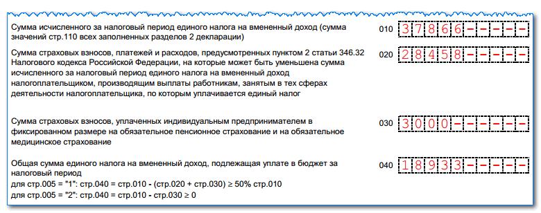 Декларация по ЕНВД: сроки сдачи, куда предоставляется, образец заполнения в 2020 году